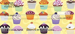 Cupcakes Girly Checks